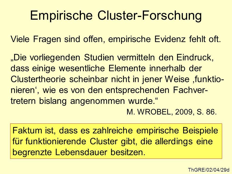 Empirische Cluster-Forschung