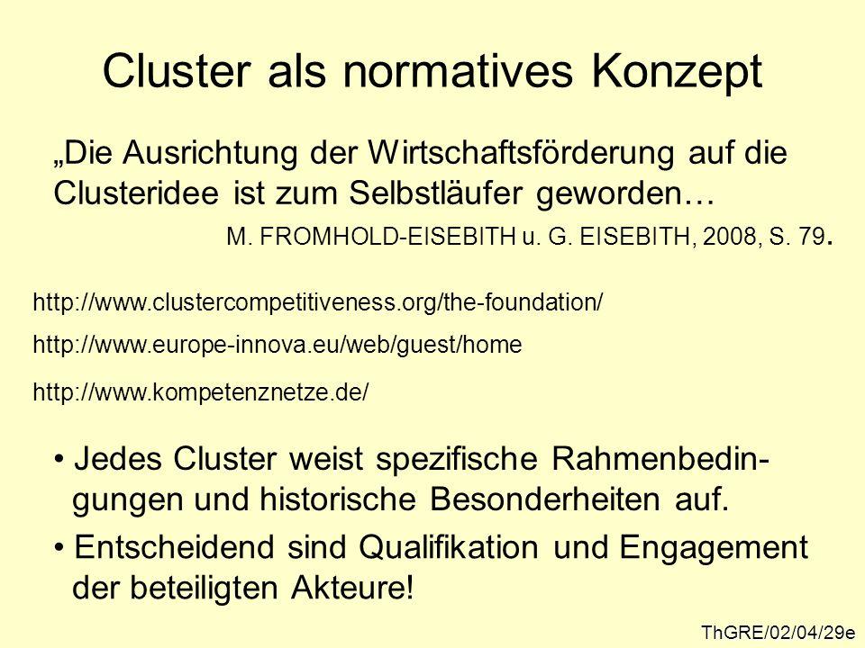Cluster als normatives Konzept