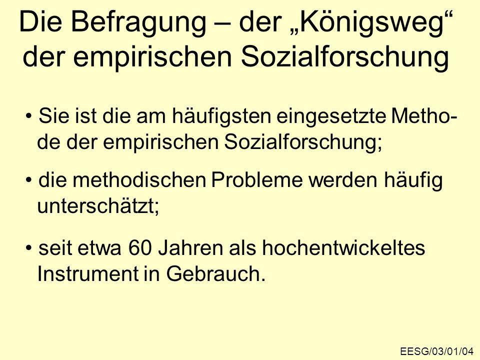 """Die Befragung – der """"Königsweg der empirischen Sozialforschung"""