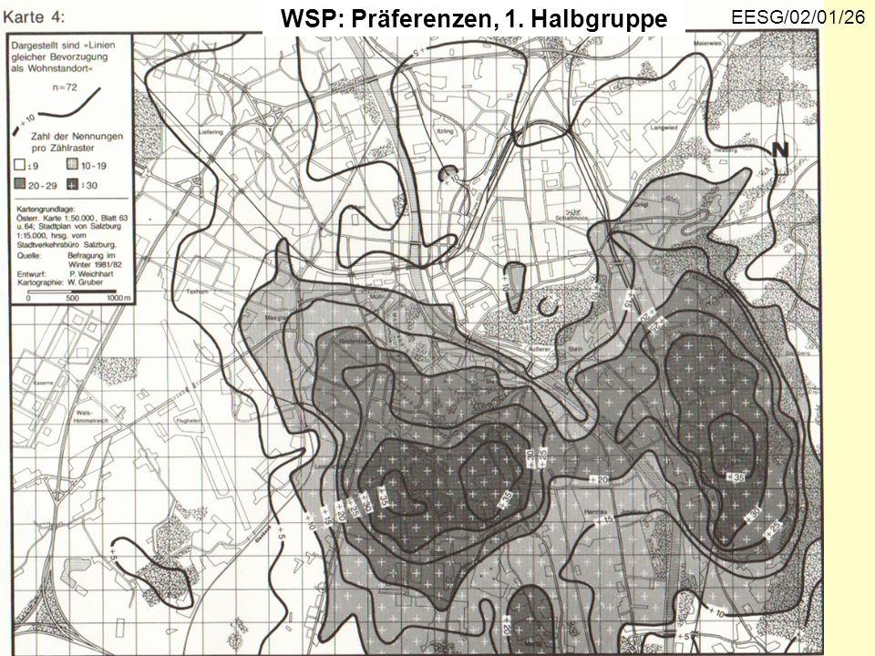 WSP: Präferenzen, 1. Halbgruppe