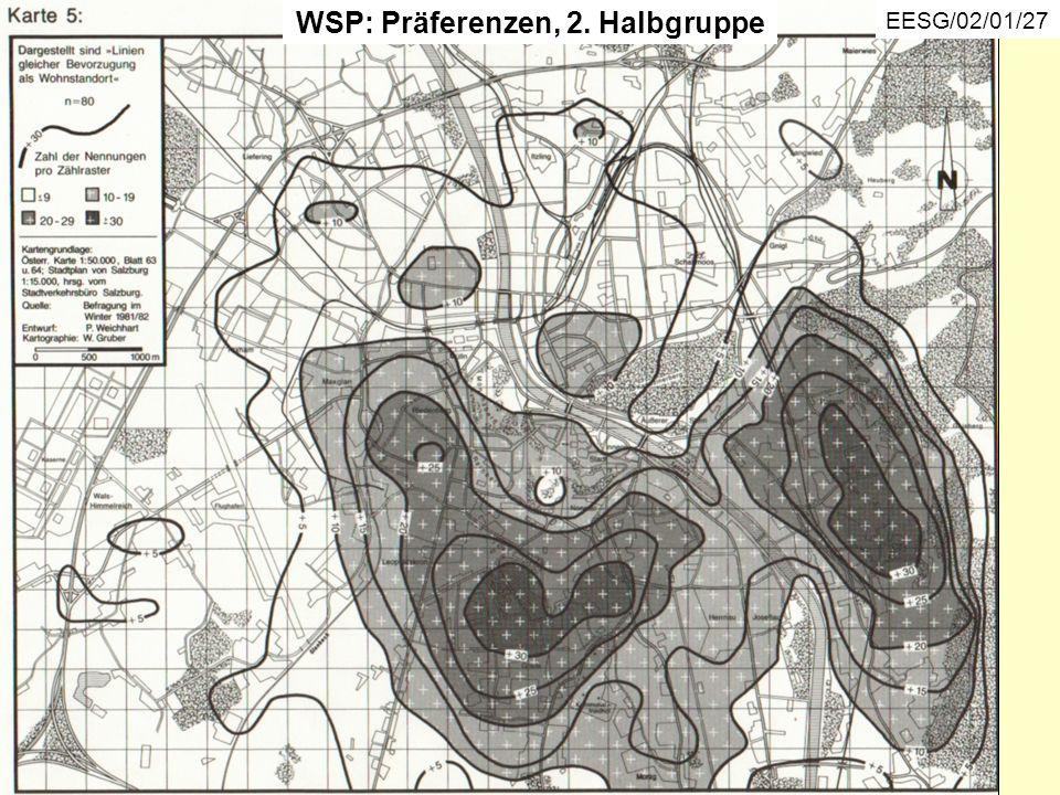 WSP: Präferenzen, 2. Halbgruppe