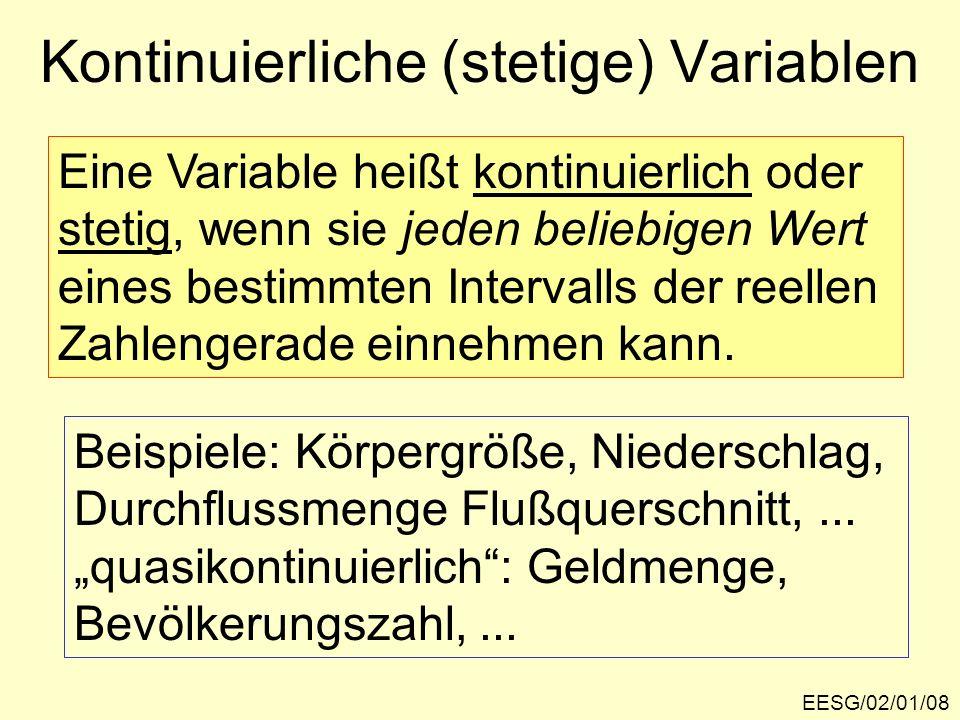 Kontinuierliche (stetige) Variablen