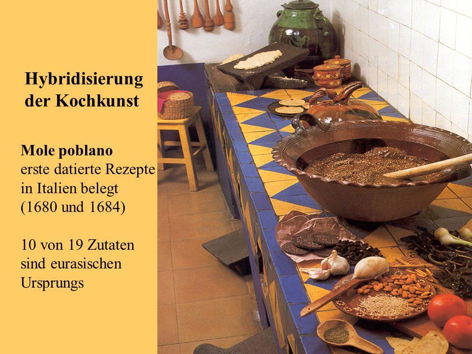 Hybridisierung der Kochkunst Mole poblano erste datierte Rezepte