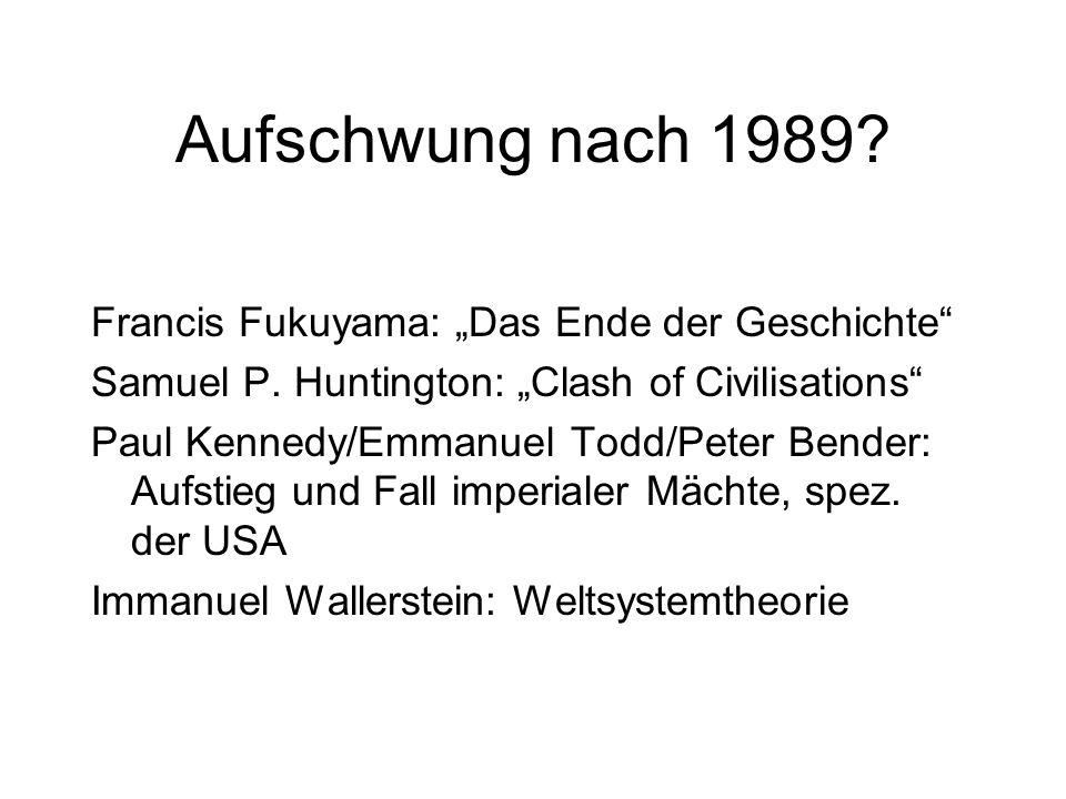 """Aufschwung nach 1989 Francis Fukuyama: """"Das Ende der Geschichte"""