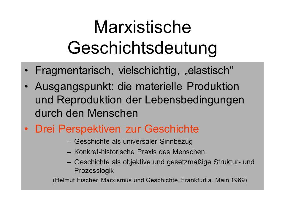 Marxistische Geschichtsdeutung