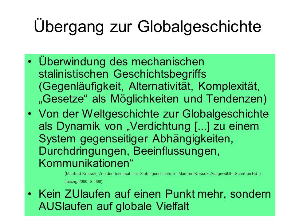 Übergang zur Globalgeschichte