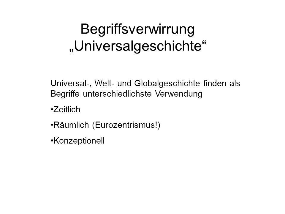 """Begriffsverwirrung """"Universalgeschichte"""