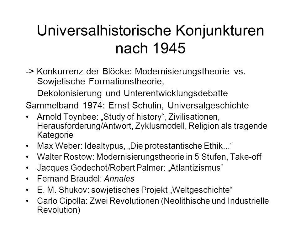 Universalhistorische Konjunkturen nach 1945