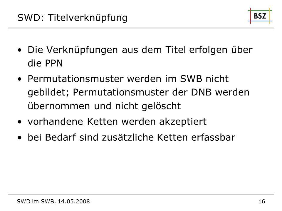 SWD: Titelverknüpfung