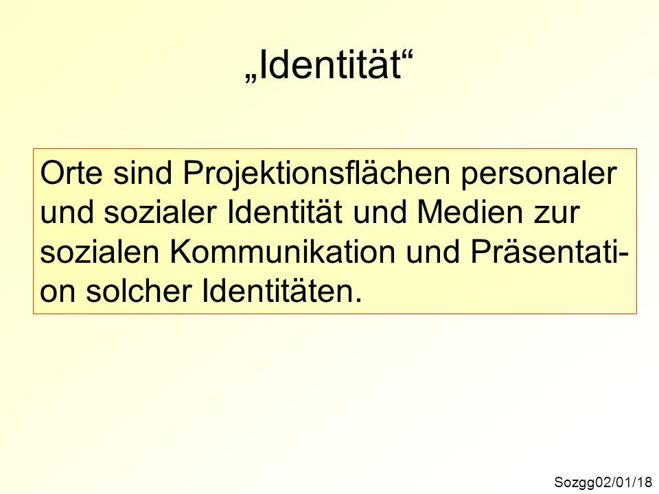 """Identität Orte sind Projektionsflächen personaler"