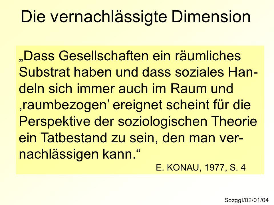 Die vernachlässigte Dimension