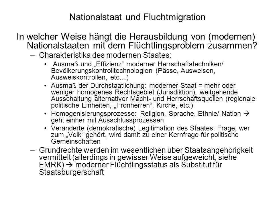 Nationalstaat und Fluchtmigration