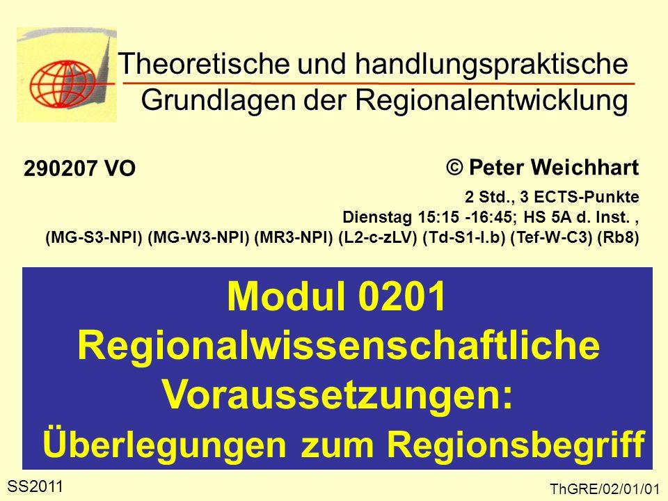Regionalwissenschaftliche Überlegungen zum Regionsbegriff