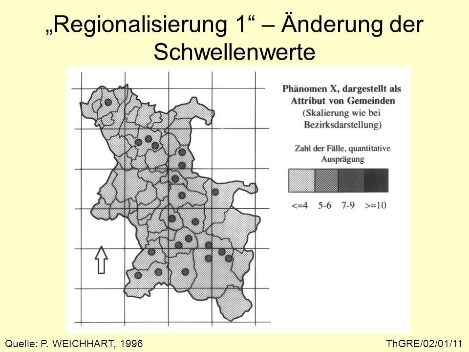 """""""Regionalisierung 1 – Änderung der Schwellenwerte"""
