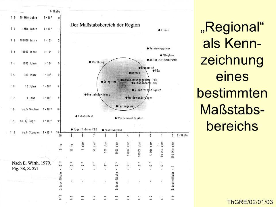 """""""Regional als Kenn-zeichnung eines bestimmten Maßstabs-bereichs"""