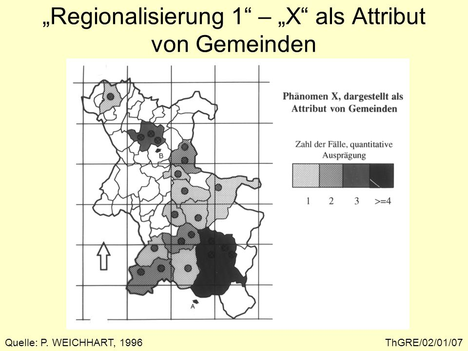 """""""Regionalisierung 1 – """"X als Attribut von Gemeinden"""