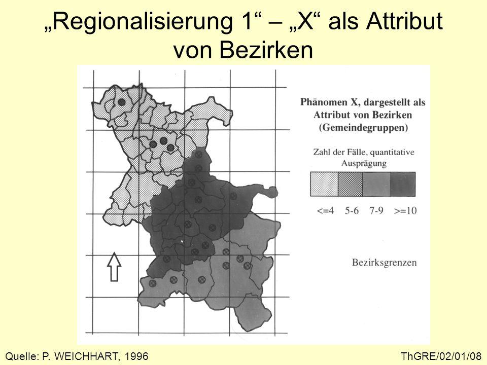 """""""Regionalisierung 1 – """"X als Attribut von Bezirken"""