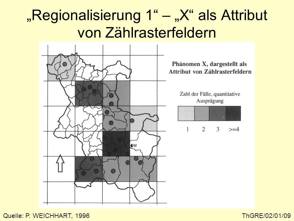 """""""Regionalisierung 1 – """"X als Attribut von Zählrasterfeldern"""