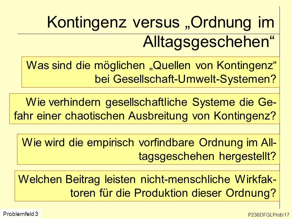 """Kontingenz versus """"Ordnung im Alltagsgeschehen"""