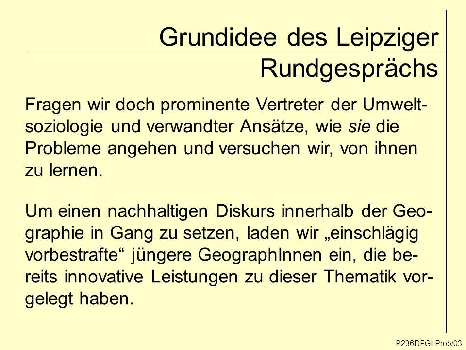 Grundidee des Leipziger Rundgesprächs