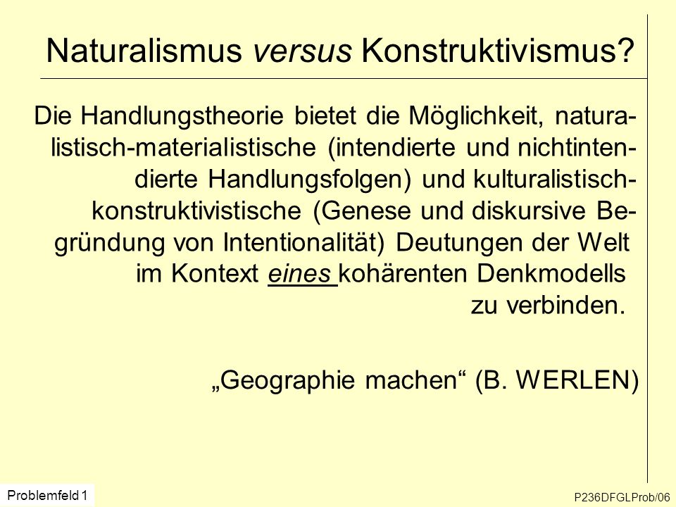 Naturalismus versus Konstruktivismus