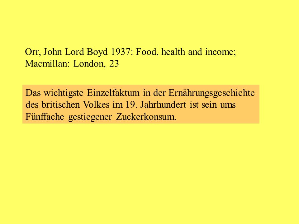 Orr, John Lord Boyd 1937: Food, health and income;