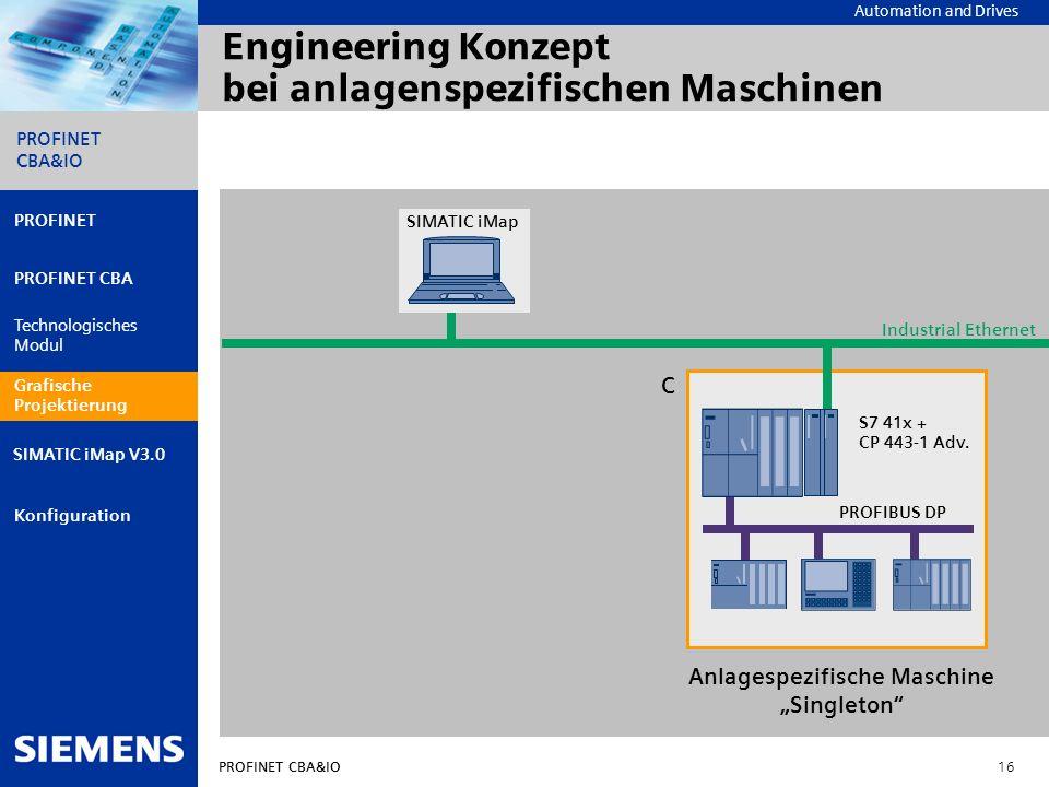 Engineering Konzept bei anlagenspezifischen Maschinen