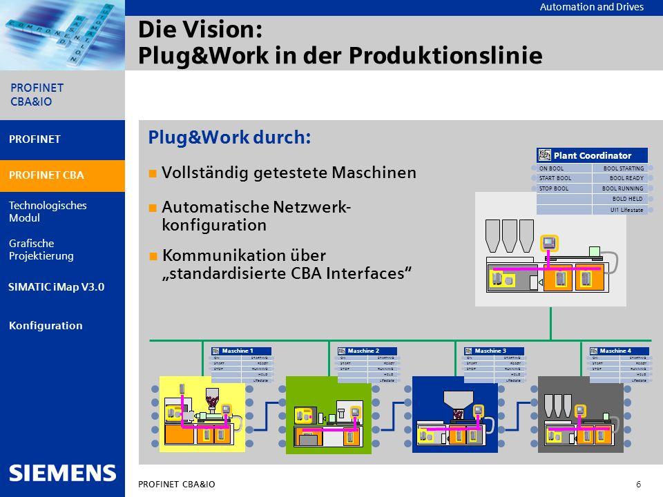 Die Vision: Plug&Work in der Produktionslinie