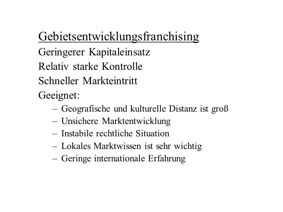 Gebietsentwicklungsfranchising