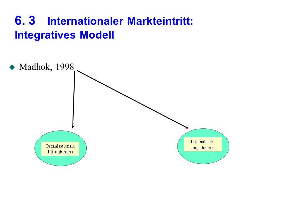 6. 3 Internationaler Markteintritt: Integratives Modell