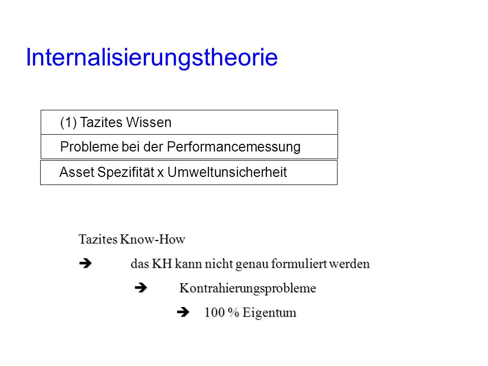 Internalisierungstheorie