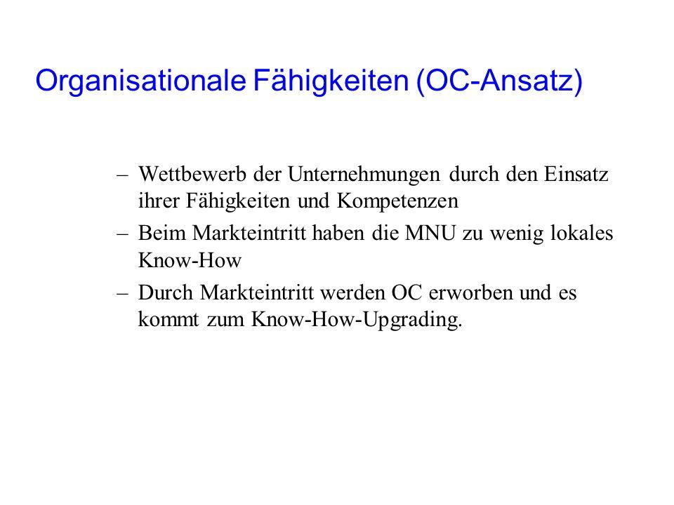 Organisationale Fähigkeiten (OC-Ansatz)