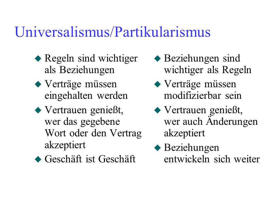 Universalismus/Partikularismus