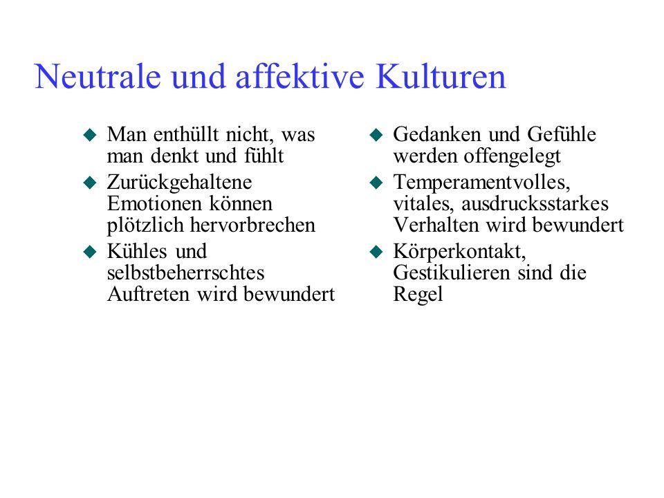 Neutrale und affektive Kulturen