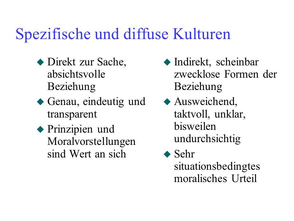 Spezifische und diffuse Kulturen