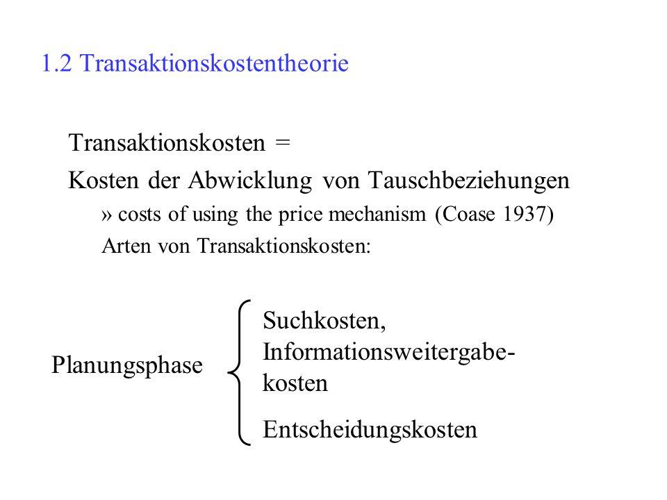1.2 Transaktionskostentheorie