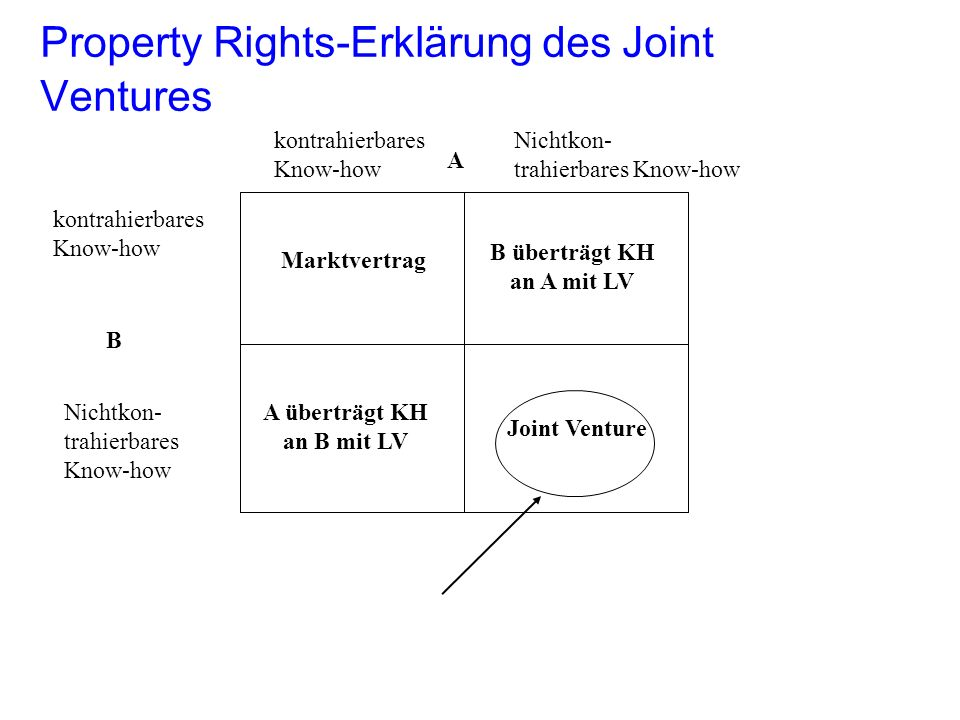 Property Rights-Erklärung des Joint Ventures
