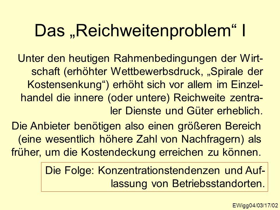 """Das """"Reichweitenproblem I"""