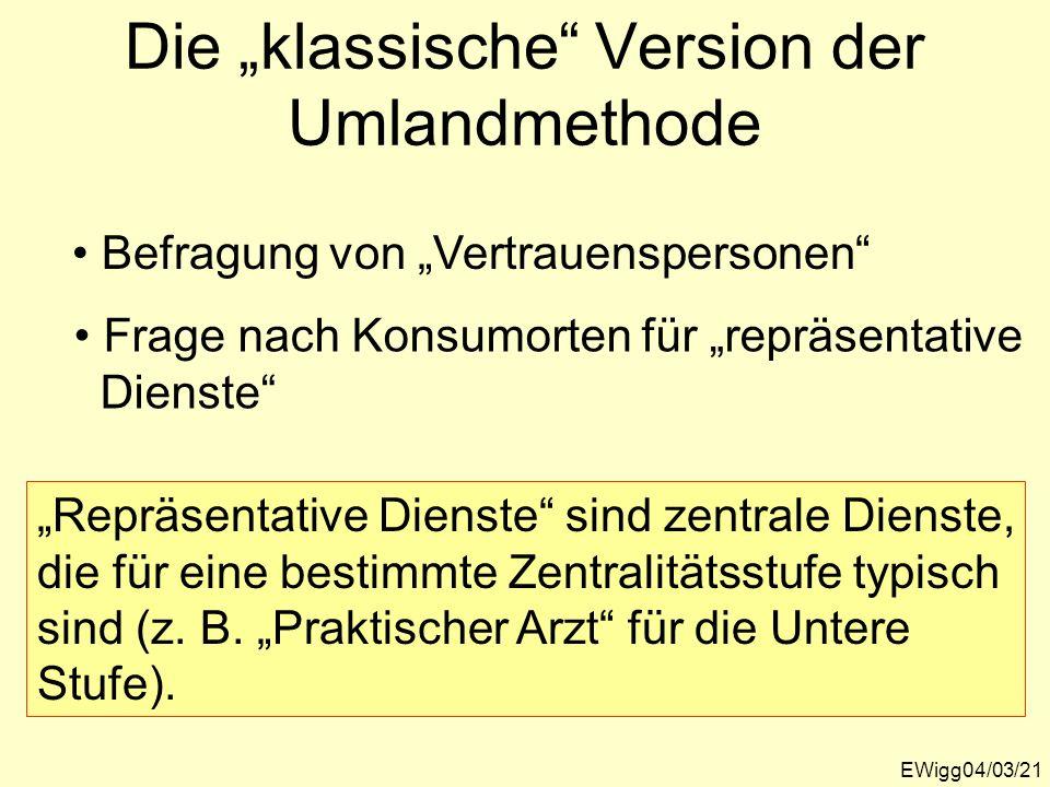 """Die """"klassische Version der Umlandmethode"""
