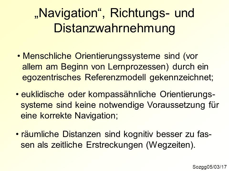 """""""Navigation , Richtungs- und Distanzwahrnehmung"""