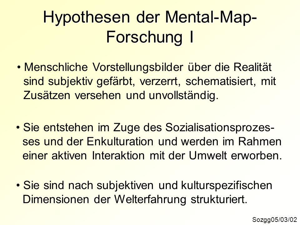 Hypothesen der Mental-Map-Forschung I