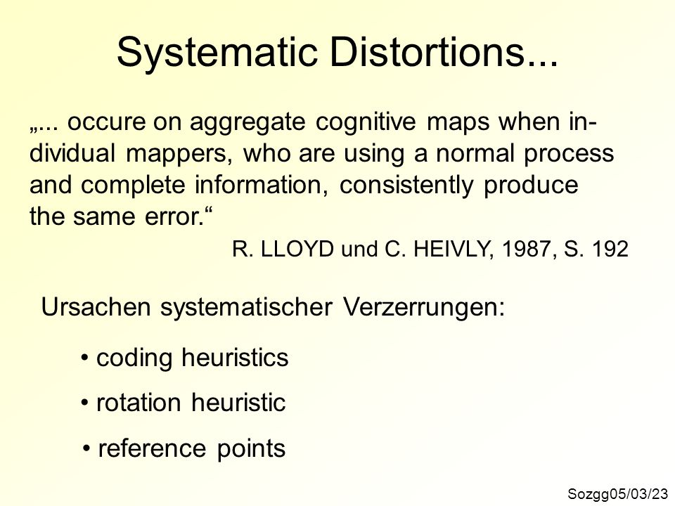 Systematic Distortions...