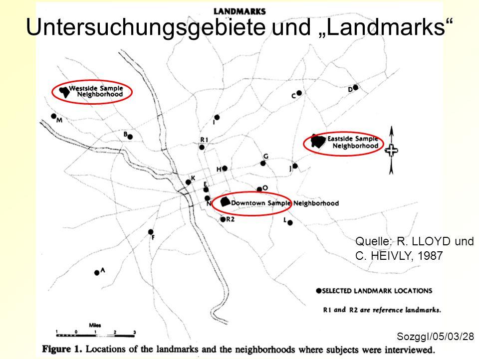 """Untersuchungsgebiete und """"Landmarks"""