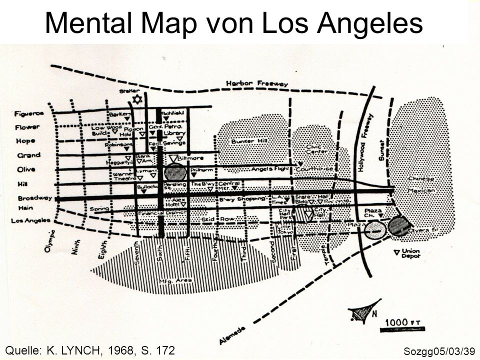 Mental Map von Los Angeles
