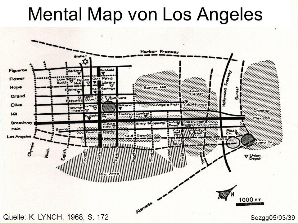 Mental Map von Los Angeles