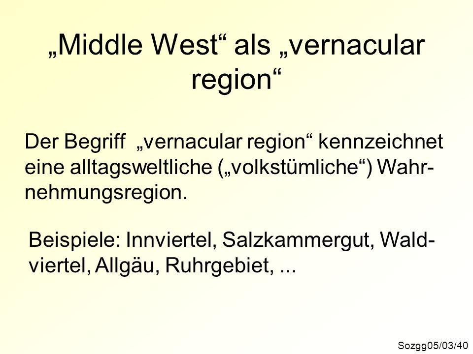 """""""Middle West als """"vernacular region"""