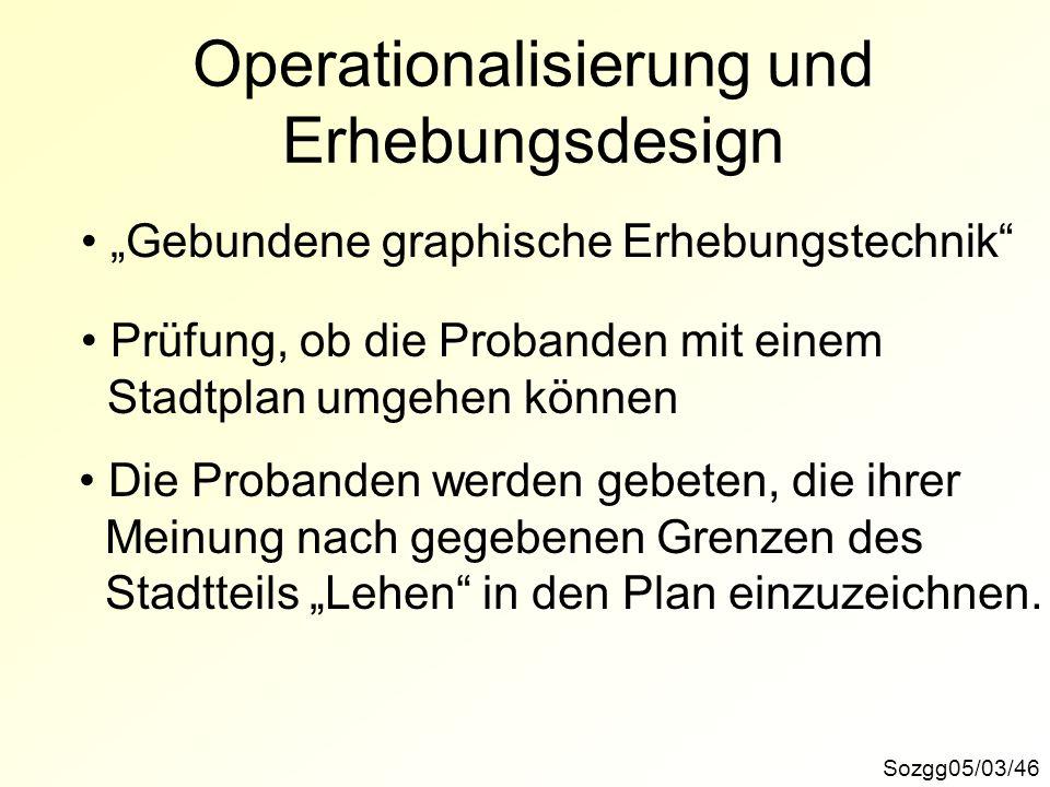 Operationalisierung und Erhebungsdesign
