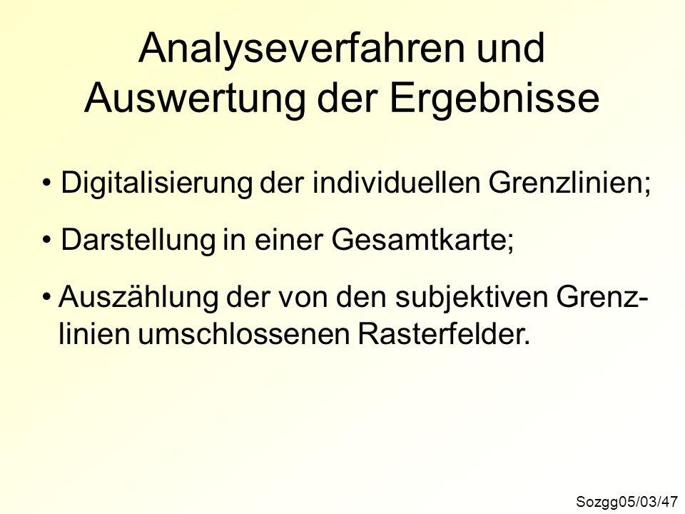Analyseverfahren und Auswertung der Ergebnisse