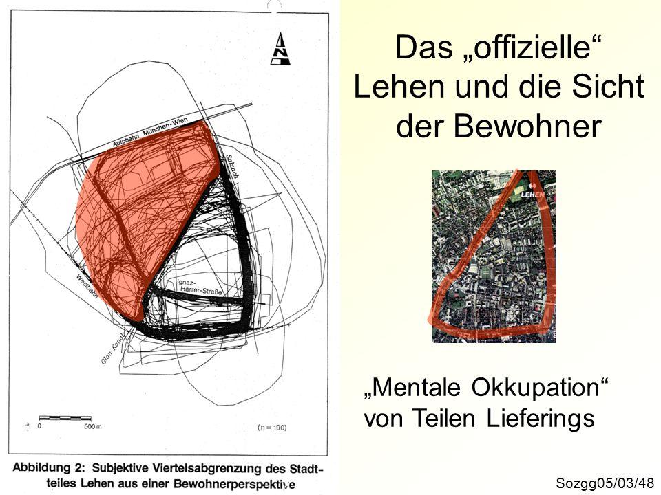 """Das """"offizielle Lehen und die Sicht der Bewohner"""