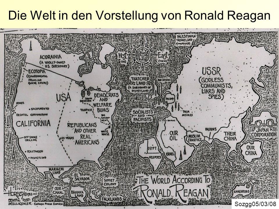 Die Welt in den Vorstellung von Ronald Reagan